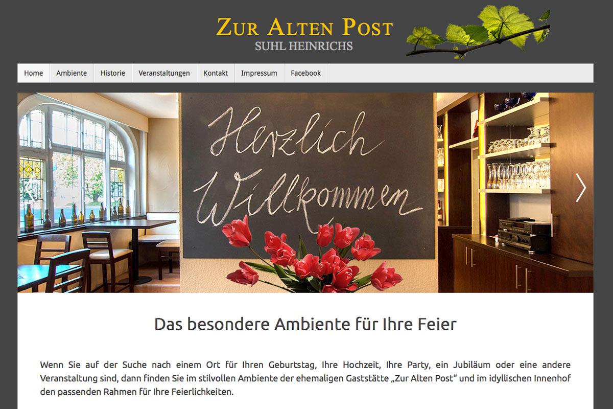 Website für die Alte Post Suhl