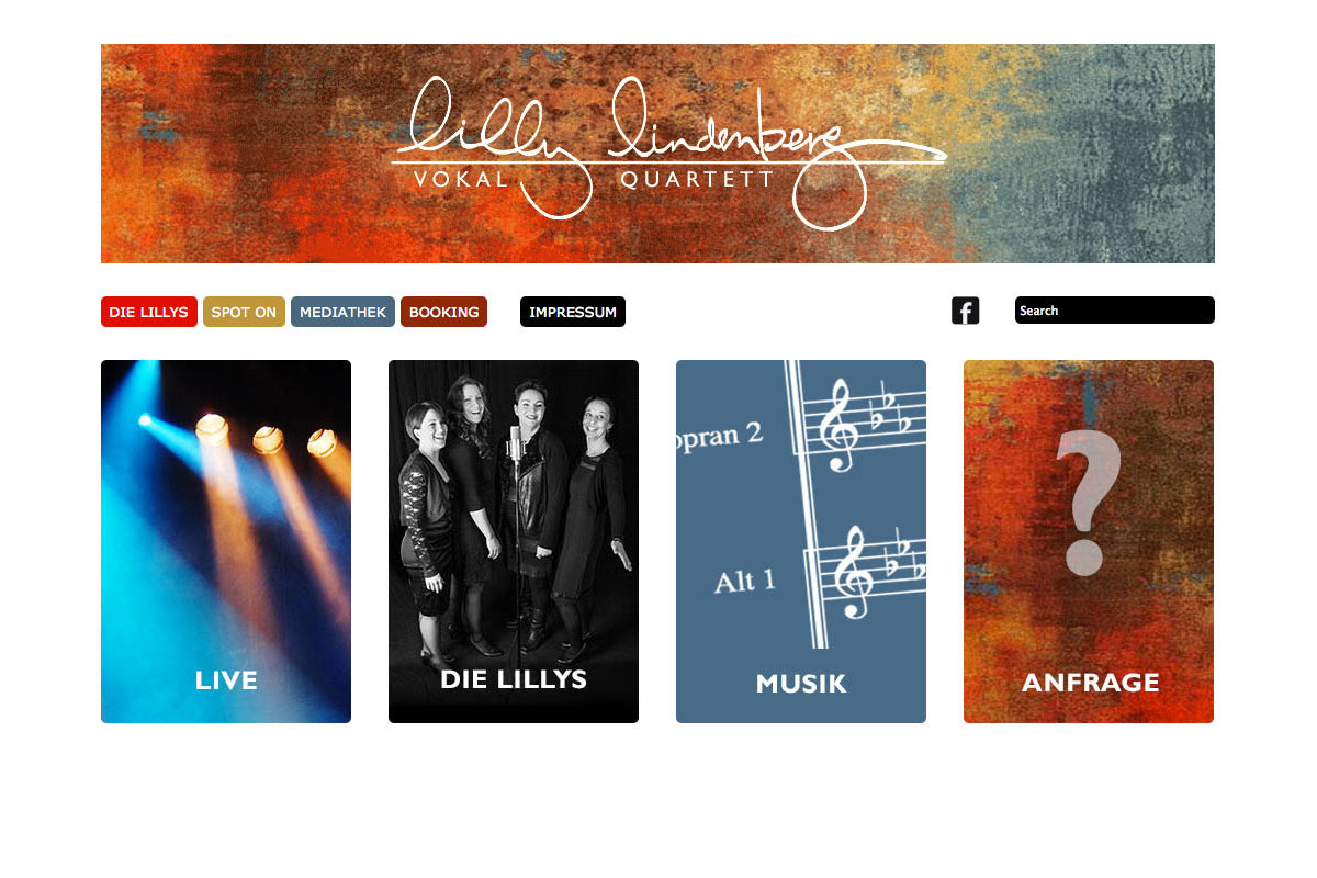 Website für Lilly Lindenberg Quartett